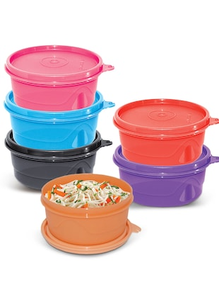 Cello Max Fresh Round Containers Set Of 6Pcs 375Ml-Assorted Colours -  online shopping for Containers