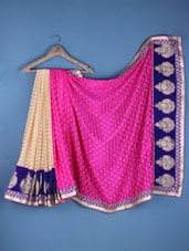 Pink And Beige Embroidered Saree - Viva N Diva