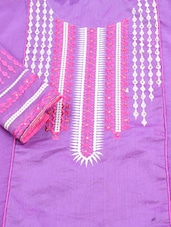 Purple Chanderi Silk Suit Set - Viva N Diva