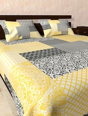 Abstract Multipattern Bed Sheet Pillow Cover Set - Onlinemaniya