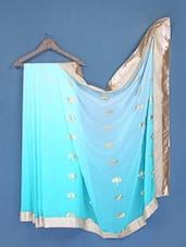 Sky Blue Chiffon Saree - FABIONA