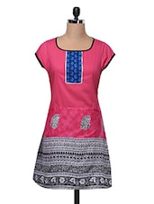 Multicolor Ethnic Printed Cotton Kurta - MOTIF