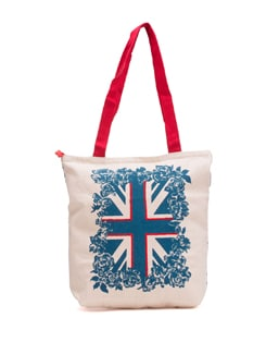 White Tote With Union Jack Graphic - Pick Pocket