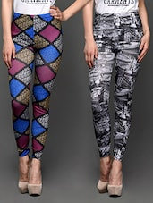 Combo Of 2 Printed Leggings - Trendybella