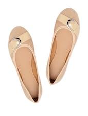 Adorable Beige Suede Ballerina Flats - Bruno Manetti