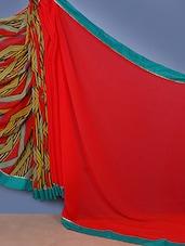 Half N Half Printed Bordered Saree - Fabdeal