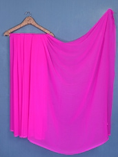 Solid Pink Marble Chiffon Saree - Fabdeal