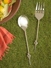 Knotted Serving Spoon & Folk - Sage Koncpt