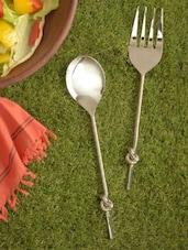 Knotted Serving Spoon & Folk - Sage Koncpt