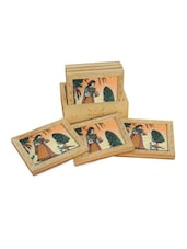 Wooden Traditional Design Square Coaster - Handicrafts Paradise