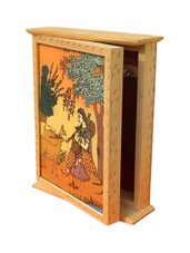 Wooden Ragini Design Key Holder Box - Handicrafts Paradise