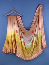 Multicolour Chiffon Zari Embroidered Saree - Suchi Fashion