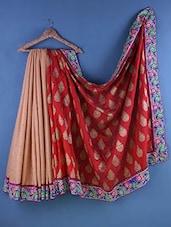Multicolour Jacquard Zari Embroidered Saree - Suchi Fashion