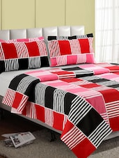 Multicolor Stripes In Rectangle Cotton Double Bedsheet - Desi Connection