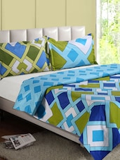 Multicolor Geometric Print Cotton Double Bedsheet - Desi Connection