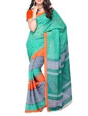 Multi Color Ethnic Printed Georgette Saree - Ambaji