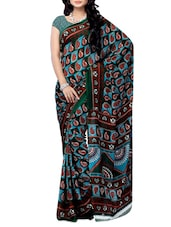 Multi Color Paisley Printed Renial Georgette Saree - Ambaji