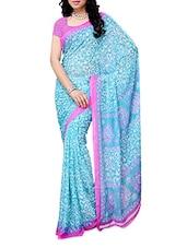 All Over Printed Chiffon Saree - Ambaji
