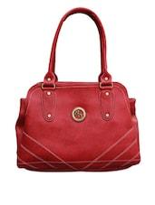 Red Multi Pocket Bag - Black & Yellow