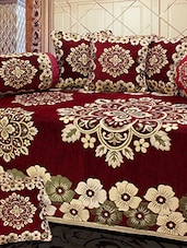 red cotton diwan set -  online shopping for diwan sets