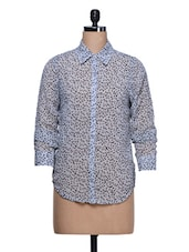 Sheer Printed Georgette Shirt - Trend 18