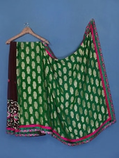 Brocade Border Embroidered Viscose Saree - Manvaa