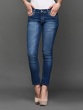 Blue Faded Denim Jeans - LESLEY