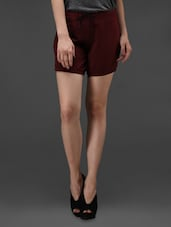 Wine Cotton Knitted  Shorts - Rider Republic