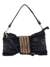 Black Leatherette Handbag - KIARA