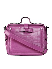 Purple Leatherette Sling Bag - KIARA