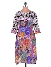 Multicoloured Printed Georgette Kurti - Admyrin