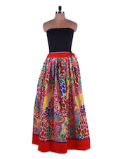 Polka Dot Print Cotton Long Skirt - Admyrin