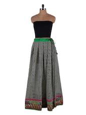 Checker Printed Georgette Long Skirt - Admyrin