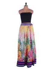 Floral Printed Georgette Long Skirt - Admyrin