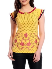 Round Neck Printed Top - TAB91