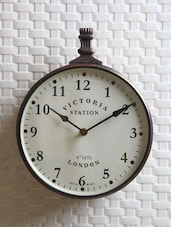 Victoria Station Single Sided Clock - Medieval India