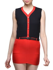 Color Block Office Bodycon Dress - London Off