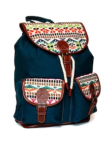 Boho Chic Backpack With Mult Hued Flap - Shaun Design
