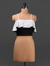 Lace Frill Camisole Crop Top - Ridress