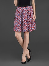 Printed Cotton Short Skirt - Ridress