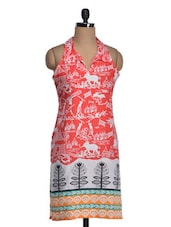 Tribal Print Sleeveless Cotton Kurta - Yepme
