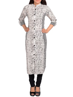 Printed floral long kurta -  online shopping for kurtas