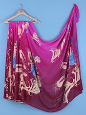 Multicoloured Printed Art Silk Saree - Shrimatiji Sarees
