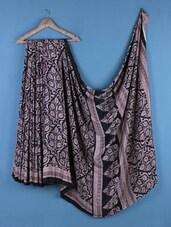 Multicolor  Crepe Silk Printed Saree - Saraswati