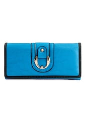 Blue Buckle Detailing Wallet - Lalana