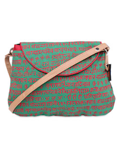 Katha Print Canvas Sling  Bag -  online shopping for sling bags