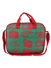 Green & Red Camera Print Laptop bag -  online shopping for Laptop bags