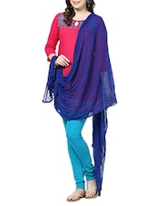 Royel Blue Cotton Plain  Dupatta - By