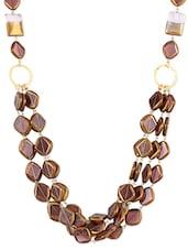 Mauve Beaded Multi-layered Necklace - ZRI