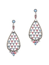 Drop Shaped Multicolour Beads Embellished Earrings - JEWELIZER